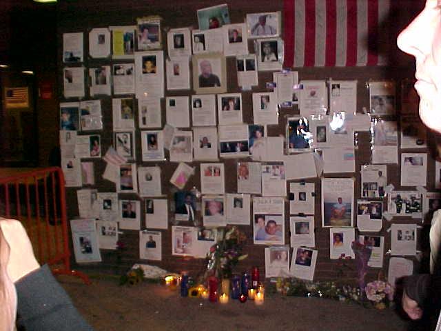 At the Prayer Wall on 9/12/01