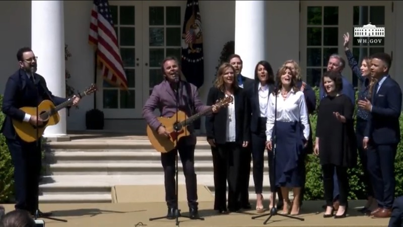 Leading Worship in the Rose Garden