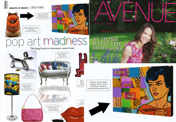 MOTHER KNOWS BEST  previously featured in AVENUE magazine