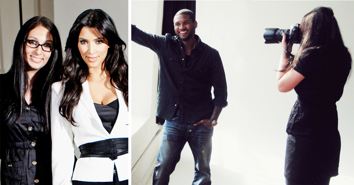 Diana Levine, on set with Kim Kardashian and Usher