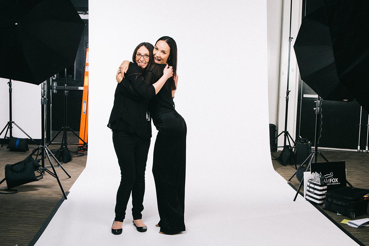 Host Diana Levine and Alysha Webb, video producer for ELLE.com. Photo by Julie Lauritsen.