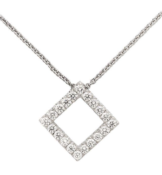 Diamond-set white gold pendant.