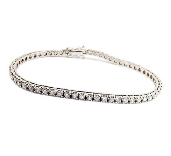 White gold diamond-set tennis bracelet.