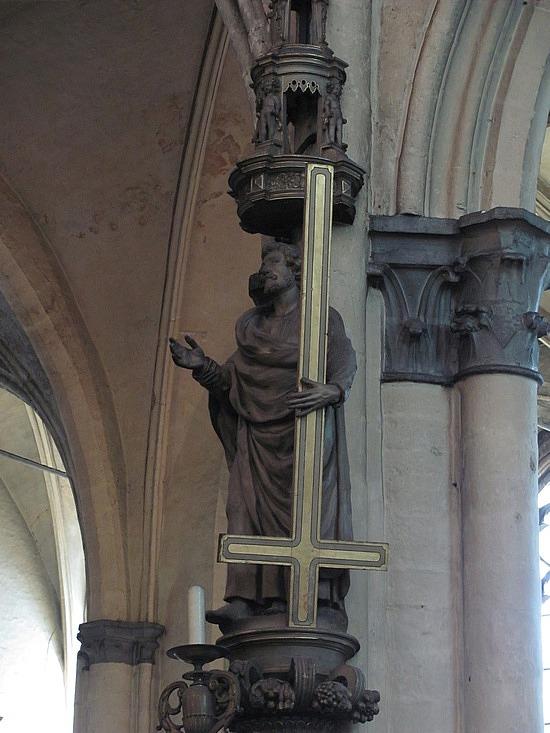 St. Peter being hung upside down cross Nauvoo