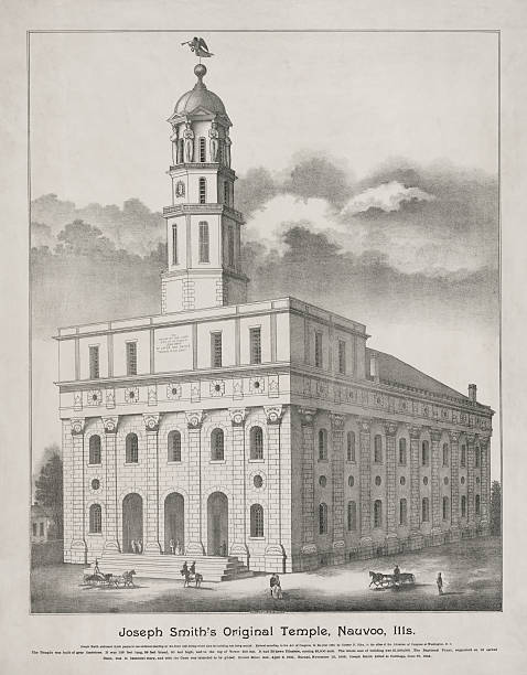 Nauvoo Temple Photo Lithograph