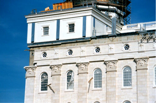 Nauvoo Temple LDS Art construction2.jpg