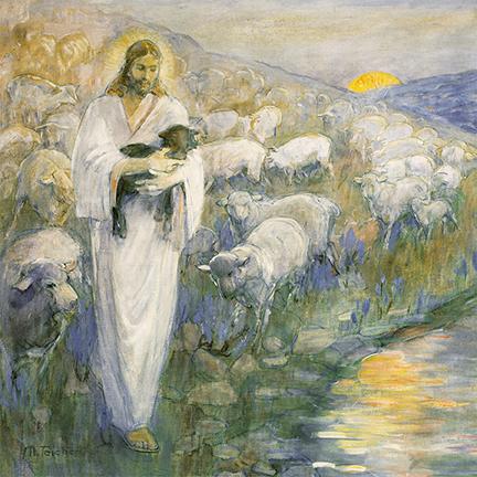 Minerva Teichert Rescue of the Lost Lamb