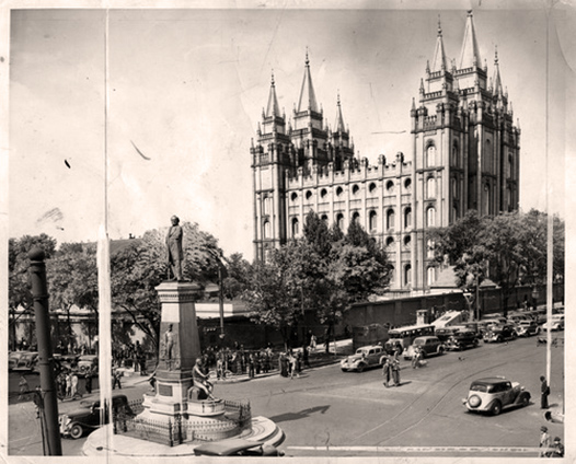Tribune file photoA view of Temple Square from 1937.