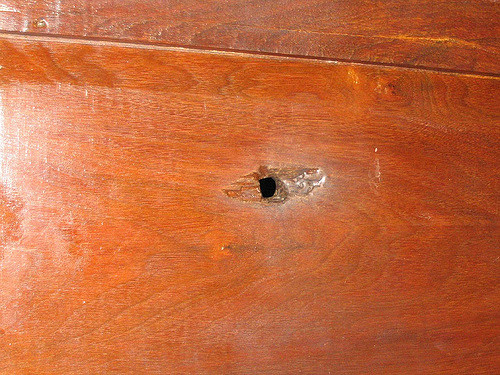 Carthage Jail Door with Bullet Hole