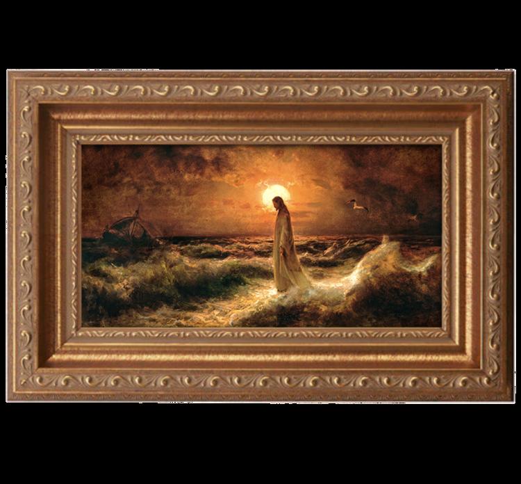 Jesus Christ Walking Water Julius Von Klever Counted Cross Stitch Pattern