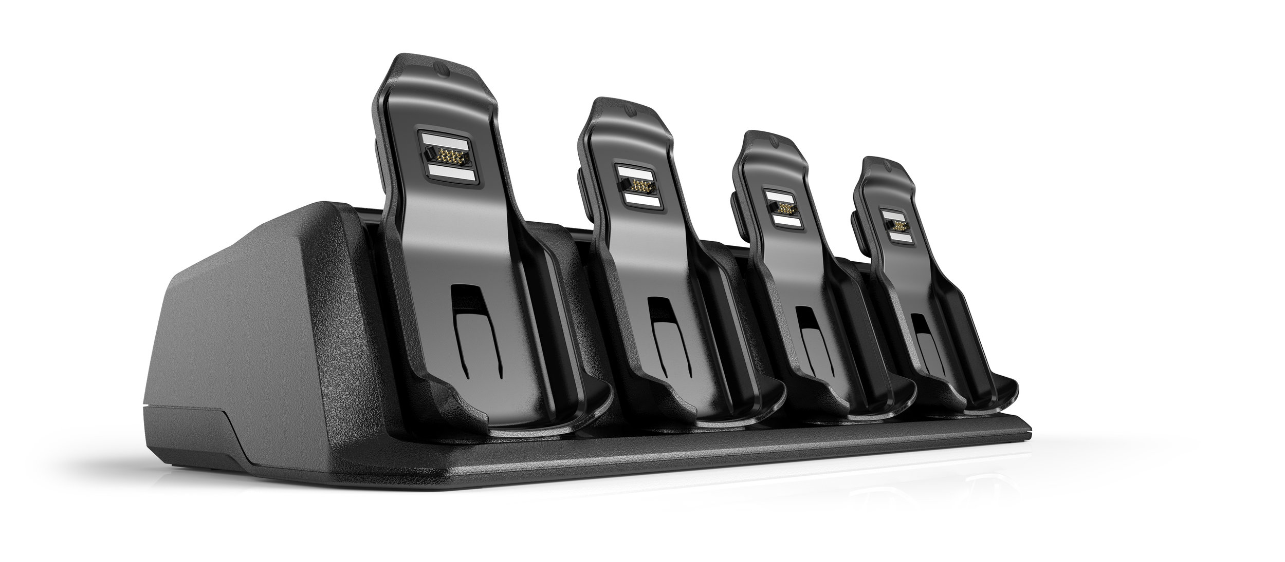 Modular multi-slot charger with server rack mounting