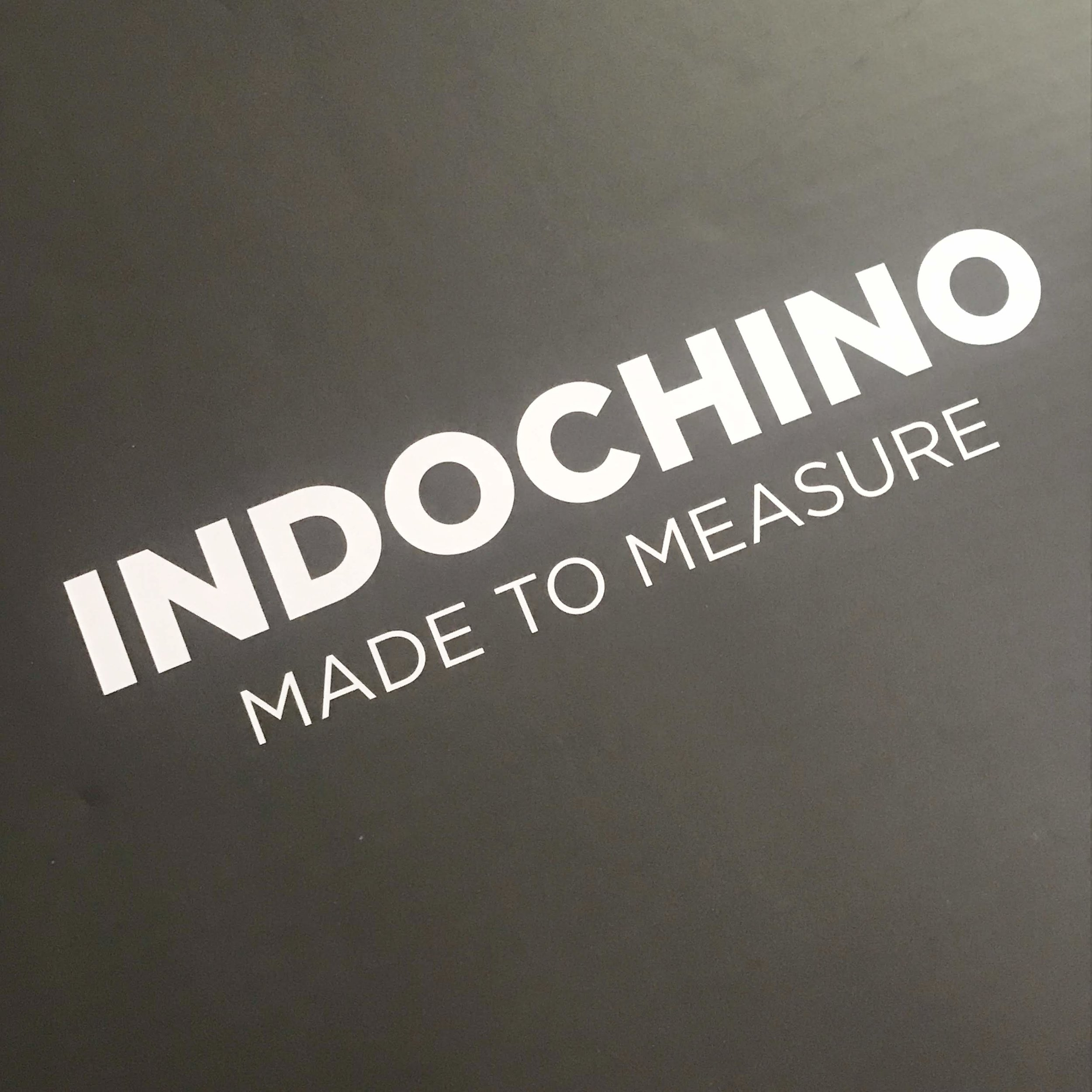 The Indochino box, as it arrived in the mail. It looked like a fancy pizza box.