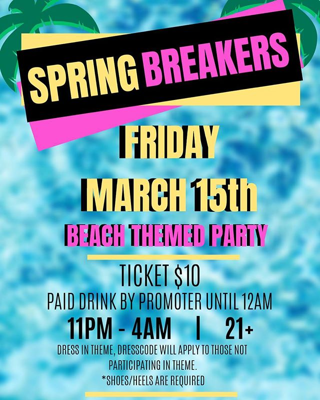 Have nothing better to do tomorrow night ?! Start off your spring break right! DONT BE AFRAID TO ASK US FOR TICKETS!! DM US✨💕