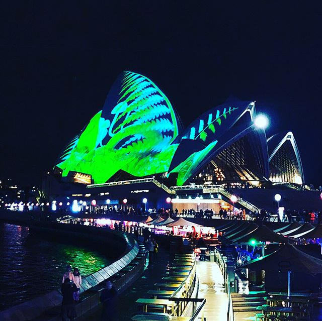 View of #vivid mostly from Aria restaurant. Dinner was superb and the lighting display to suit! #design #