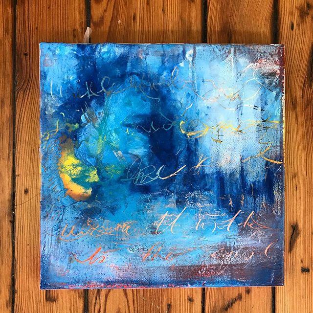 New encaustic work almost ready for tomorrow night! #painting #abstractart #wax#cincinnati #art