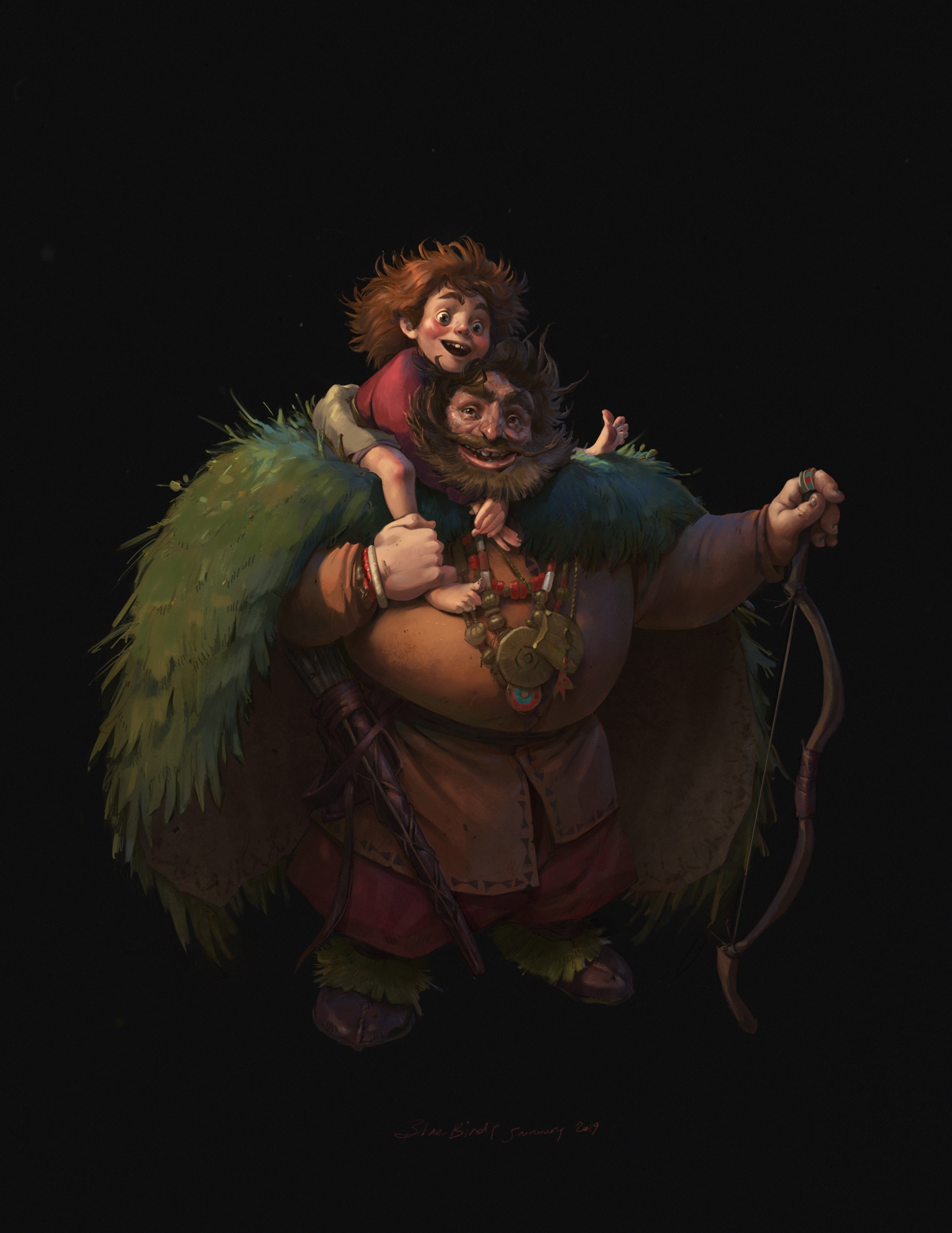 'Ronja and Mattis' for the story ''Ronja the robber's daughter''