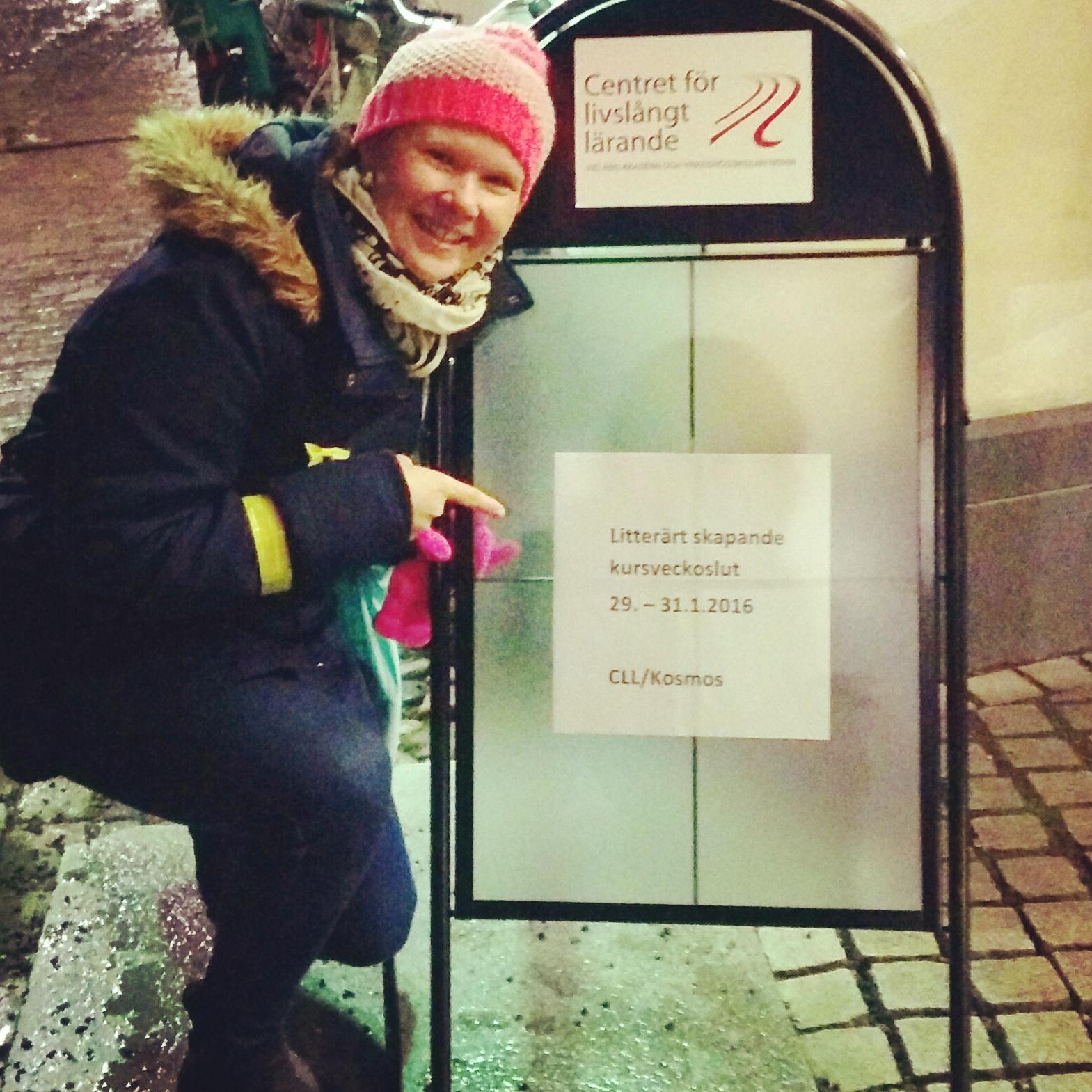 Lätt ivrig inför första kursträffen i Åbo.