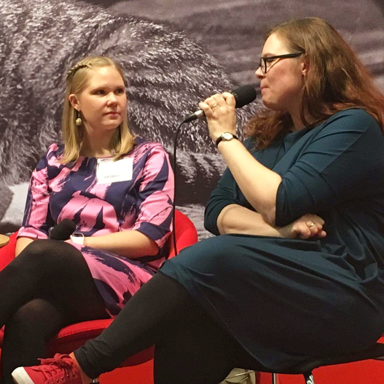 Jag och Jolin Slotte som intervjuade.