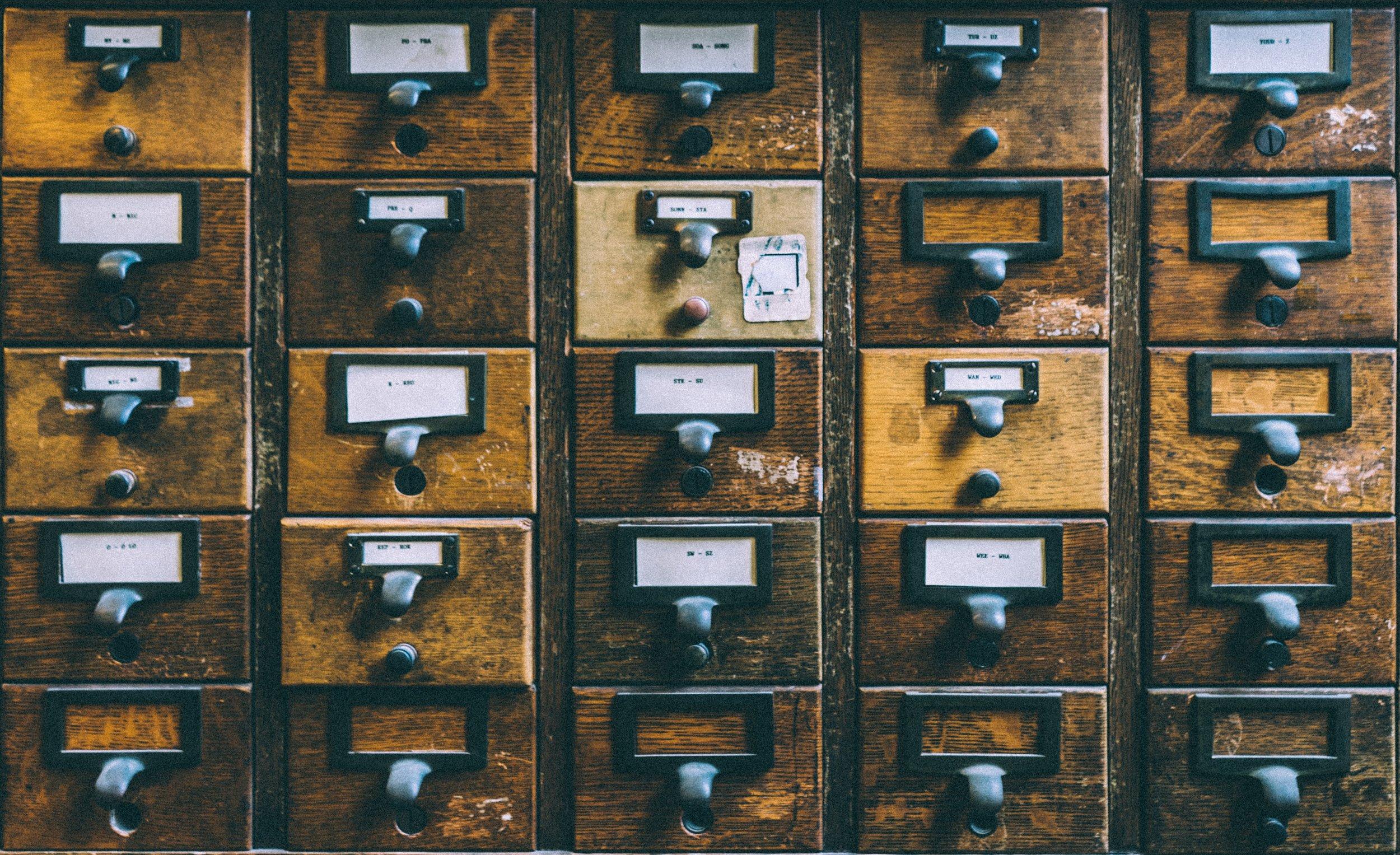 Snart behöver jag ett liknande system för att sortera alla idéer och tankar. Foto: Unsplash.