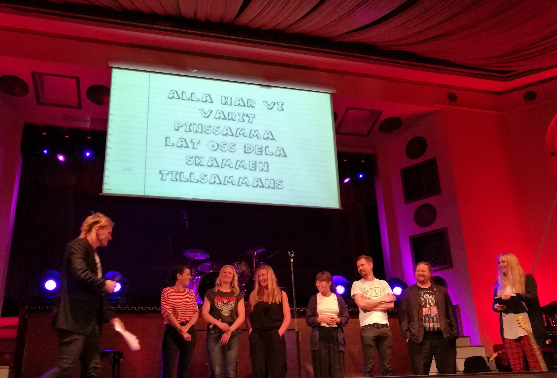 Arrangörerna och alla modiga som vågade sig på scen!