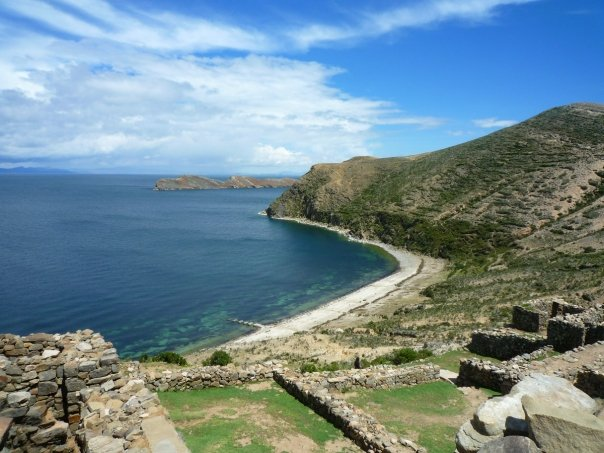 Titicacasjön i Bolivia.
