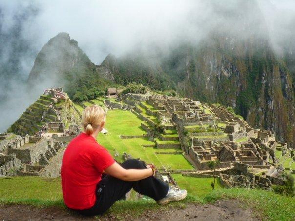 Lilla jag vid Macchu Picchu.