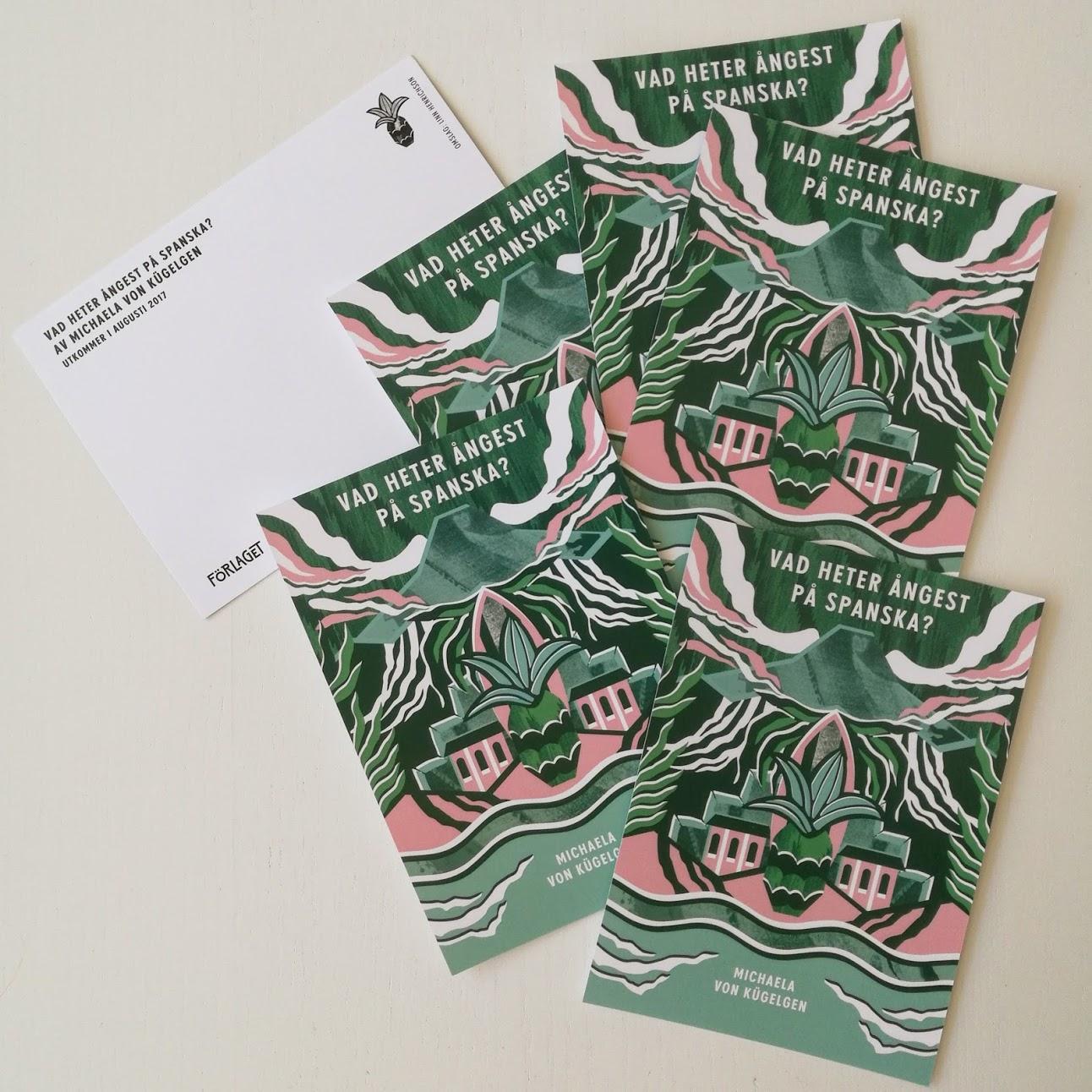 Fick storhetsvansinne och beställde en massa vykort. Är ju världens snyggaste omslag!