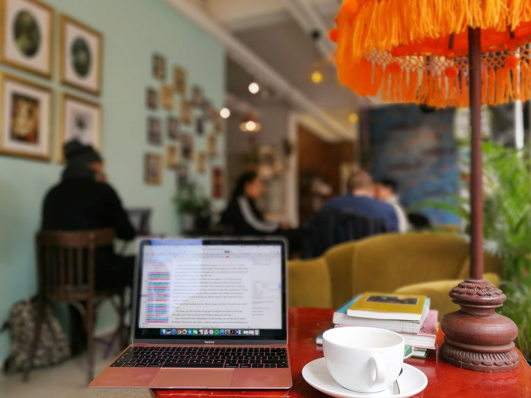 Jag hoppas på många dagar med kaféskriv!