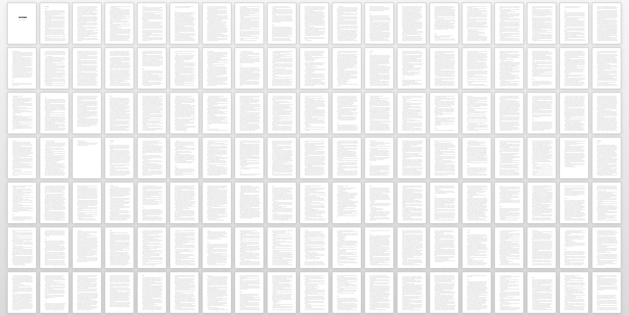 Nästan hela manuset. Sjukt hur mycket text?! Drygt 76 000 ord eller 430 000 tecken. Aldrig skrivit så långt förr!