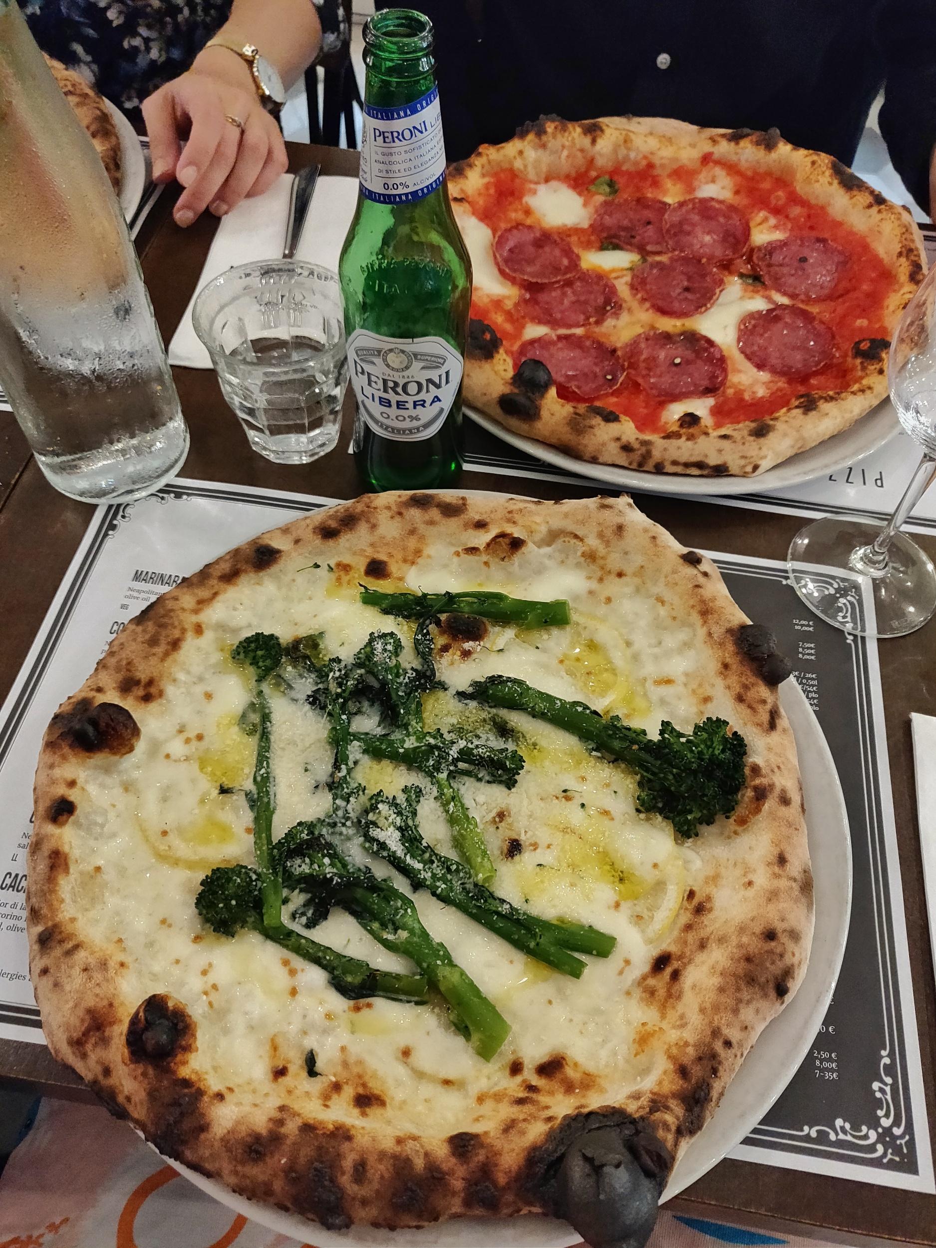 Gårdagens pizza på Via Tribunali var så otroligt god!
