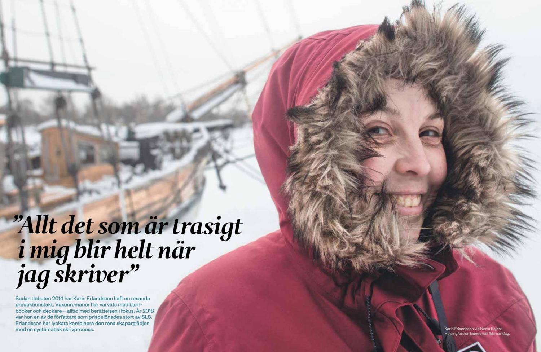 - Intervju med Karin Erlandsson i SLS verksamhetsberättelse 2018. I samma publikation finns också flera andra texter skrivna av mig.