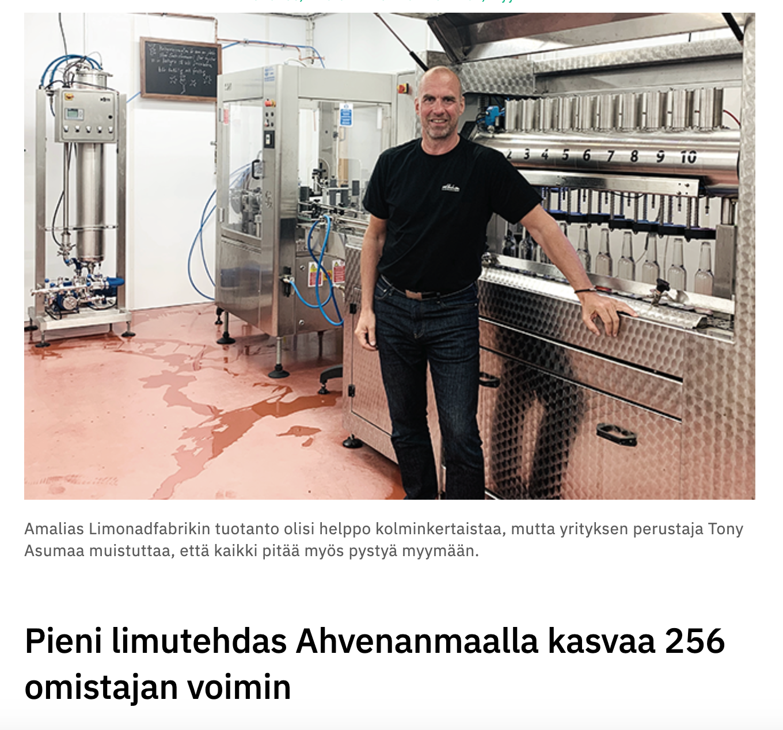 - Y-Studio: Pieni limutehdas Ahvenanmaalla kasvaa 256 omistajan voimin