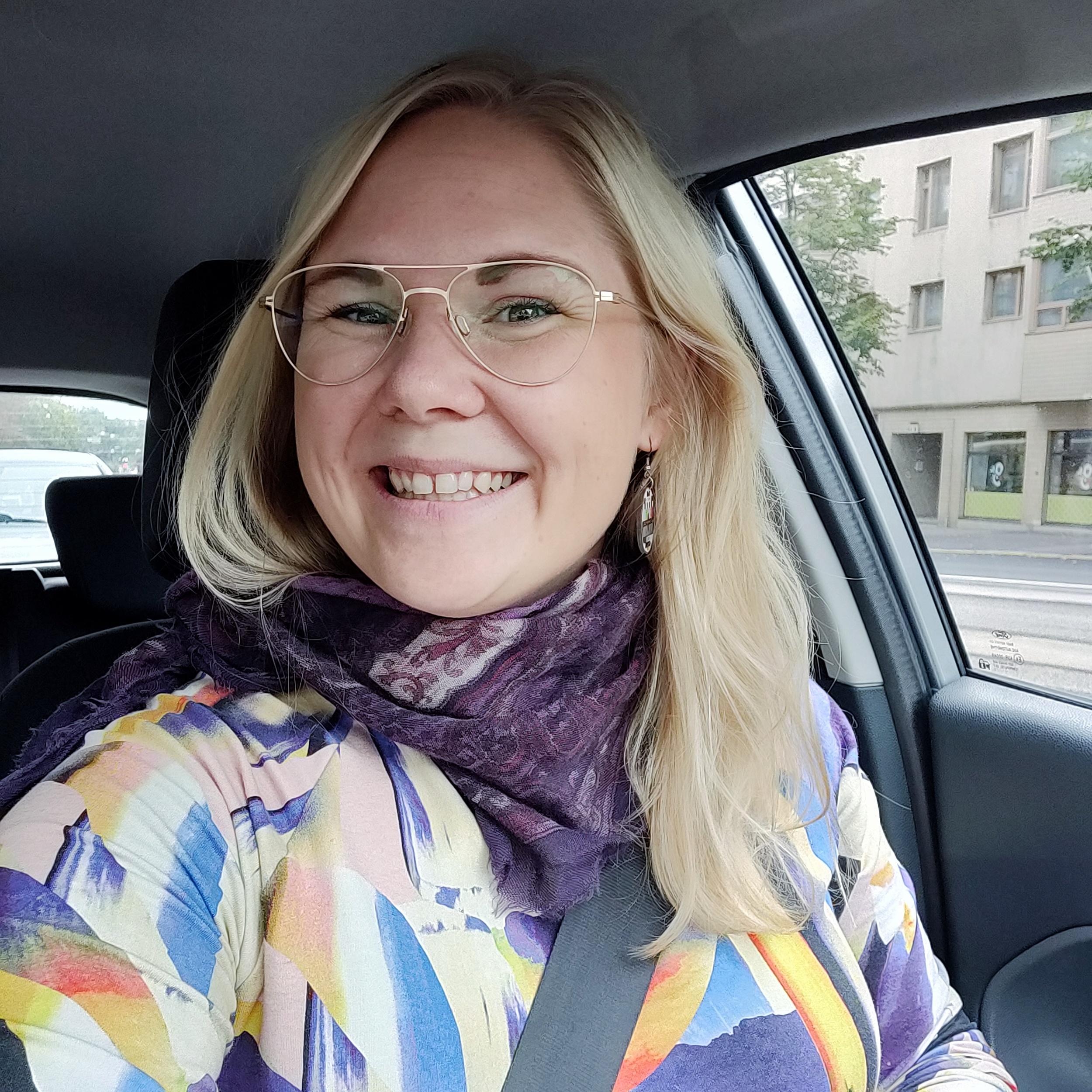 På väg mot Hangö. Fotot taget medan jag stod stilla i trafikljusen, så klart!