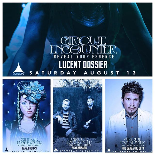 TICKET CONTEST!!! Want to win a pair of tickets to #cirqueencounter at @avalonhollywood tomorrow night? Nows your chance! Like this post, tag a friend, repost the image on your wall, tag @lucentdossier @avalonhollywood @robgarzamusic @psychemagikofficial @tarabrooksmusic, and write a few words about how you plan to #revealyouressence tomorrow night ⚡️bonus points for hashtags! Winner will be announced Saturday at noon! Ready- set- GO! 🙌🏾#avalonhollywood #lucentdossier #robgarza #tarabrooks #psychemagik #august13th2016 #losangeles #hollywood #bestshowinla