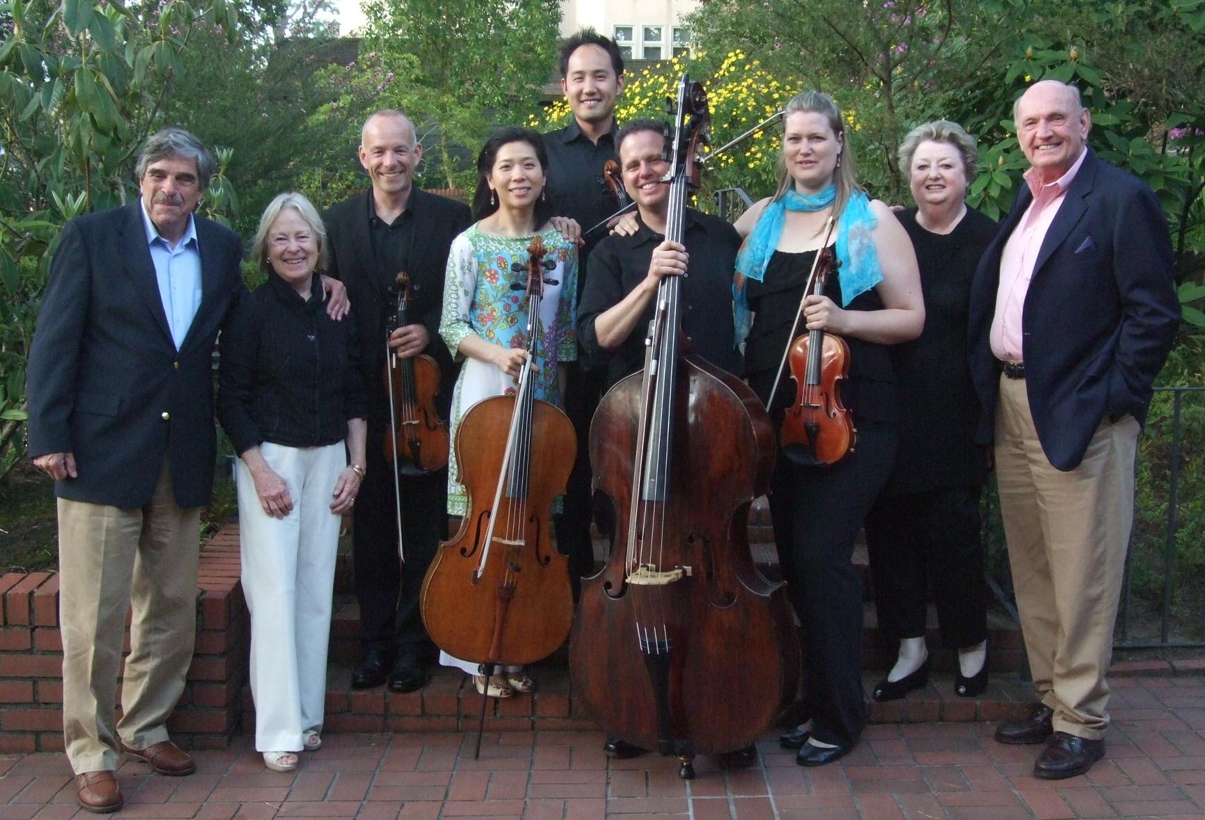 Salon Classique musicians and hosts