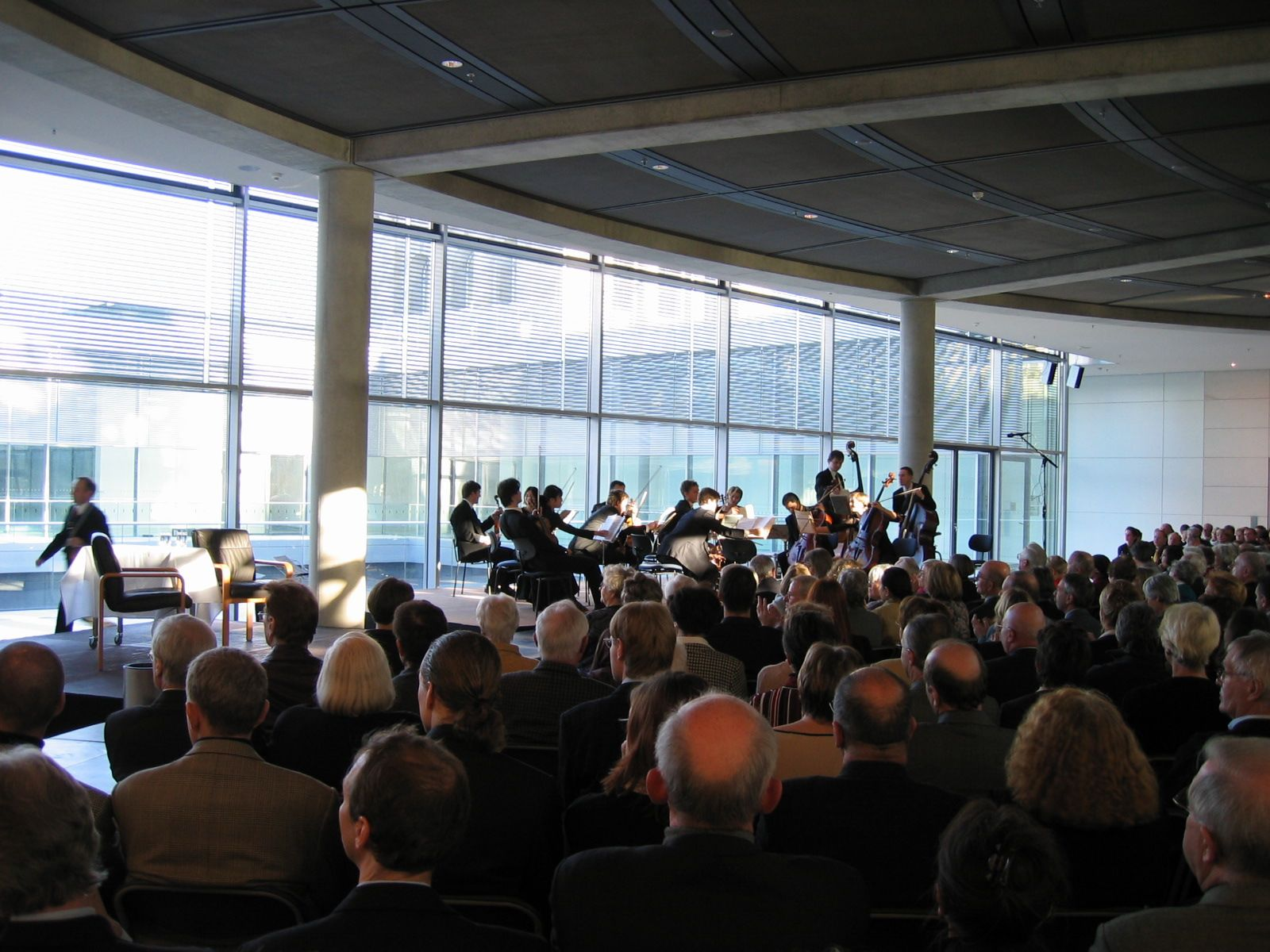 Concert at the newly opened German Bundestag