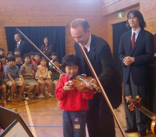 School presentation in Tokyo with the Akanthus Ensemble