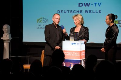 Deutsche Welle interview upon a DSO DVD release party and press conference with the Akanthus Ensemble performing.