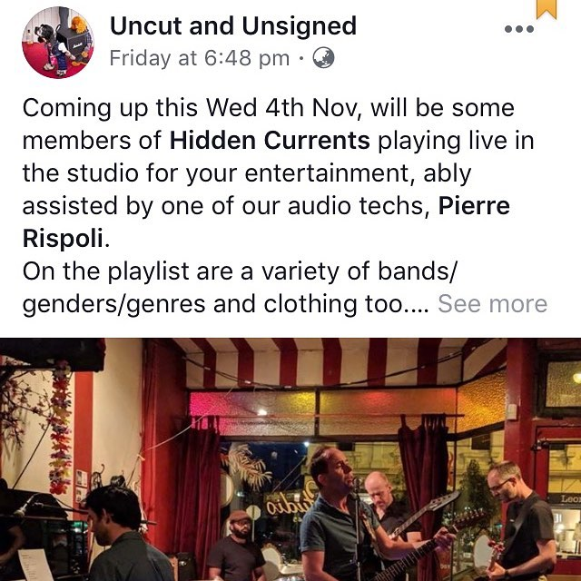 """Ruvith and Chris from Hidden Currents will be performing live on """"Uncut and Unsigned"""" this Wednesday. Tune in to 3MDR from 11am.  #livetoair #communityradio #3mdr #uncutandunsigned #liveradio #hiddencurrents #hiddencurrentsband @hidden.currents @3mdr97.1fm  #indierock #singersongwriter #singer #singwriter #dreampop #postrock #musicvictoria #melbournemusic"""