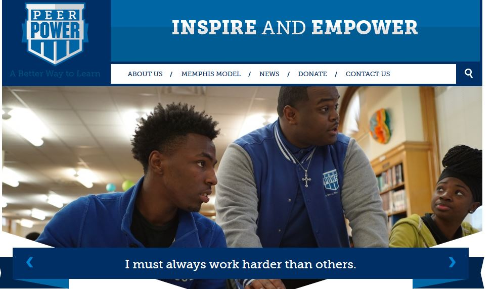 Peer Power - Peer Power is a non-profit organization that recruits and trains high-performing students to tutor and mentor their peers, encourage active learning, value education and be personally accountable for their futures.