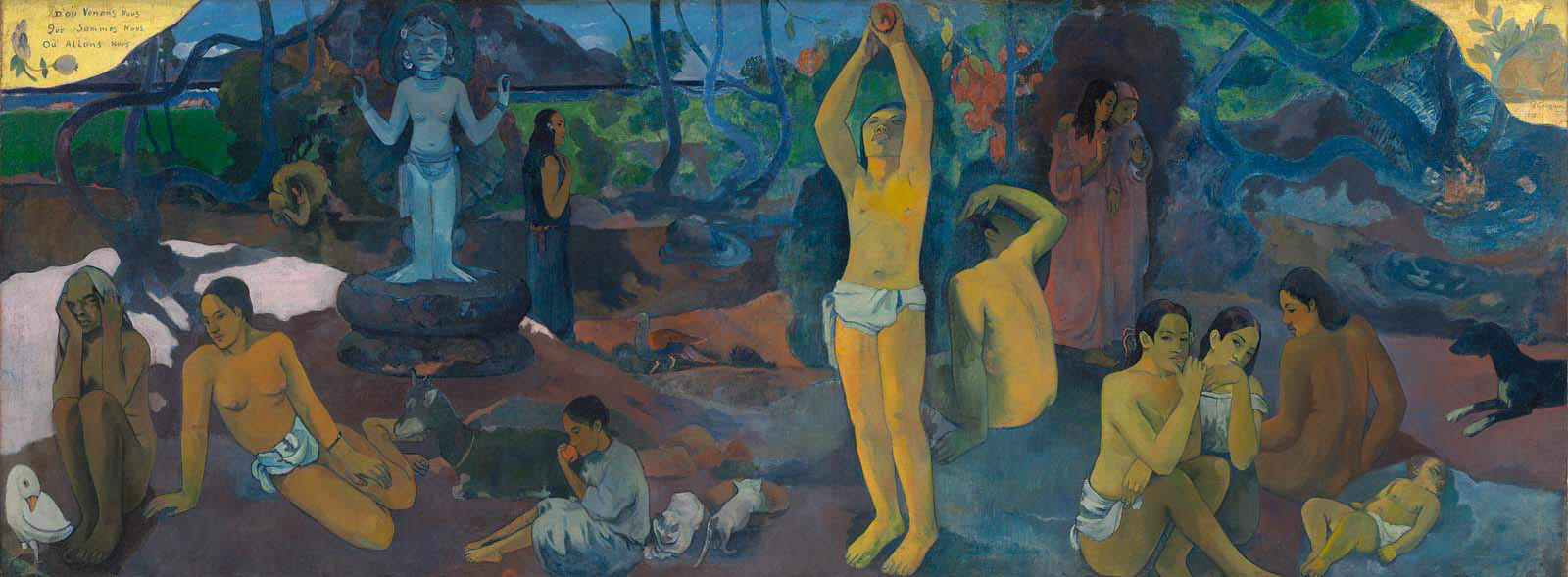 Paul Gauguin,  Where Do We Come From? What Are We? Where Are We Going?  1897-98, image from  MFA Boston