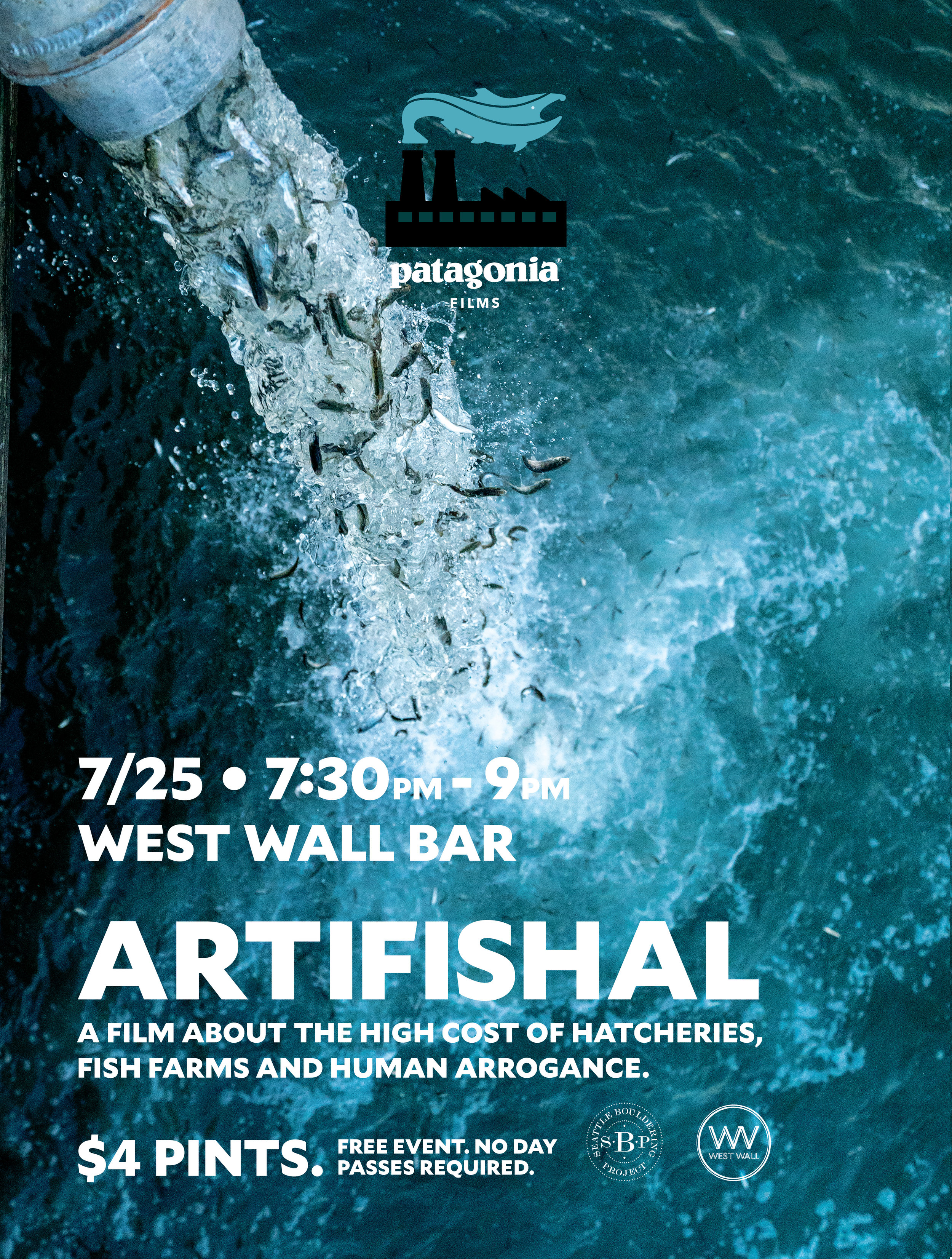 Artifishal  film screening event poster.