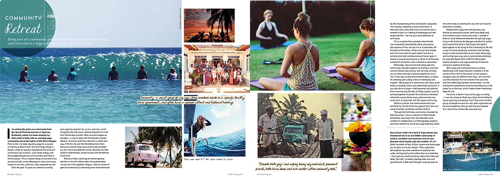 Community Retreat - Surfgirl Magazine, Summer 2015