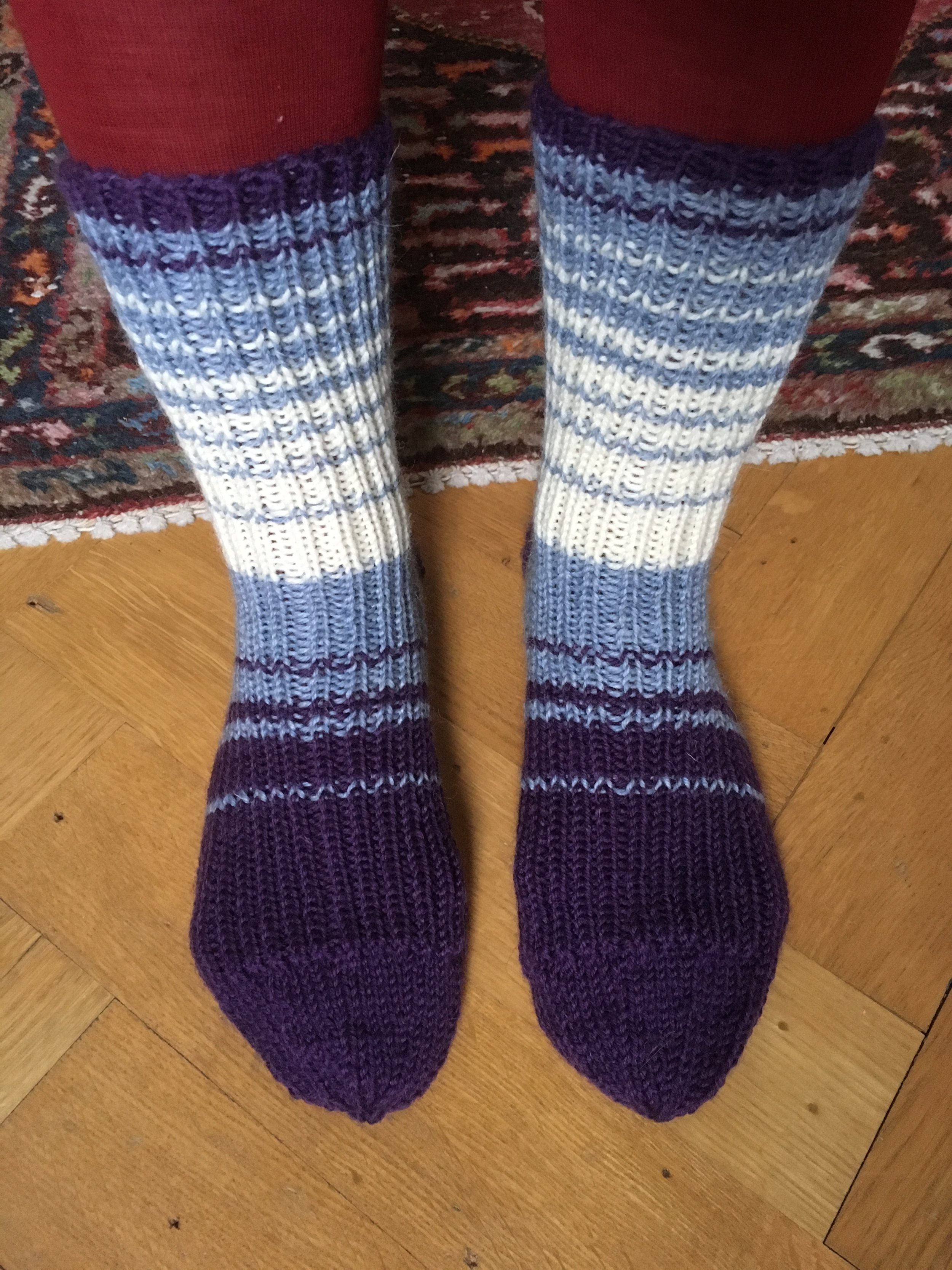 Ice-stripe socks
