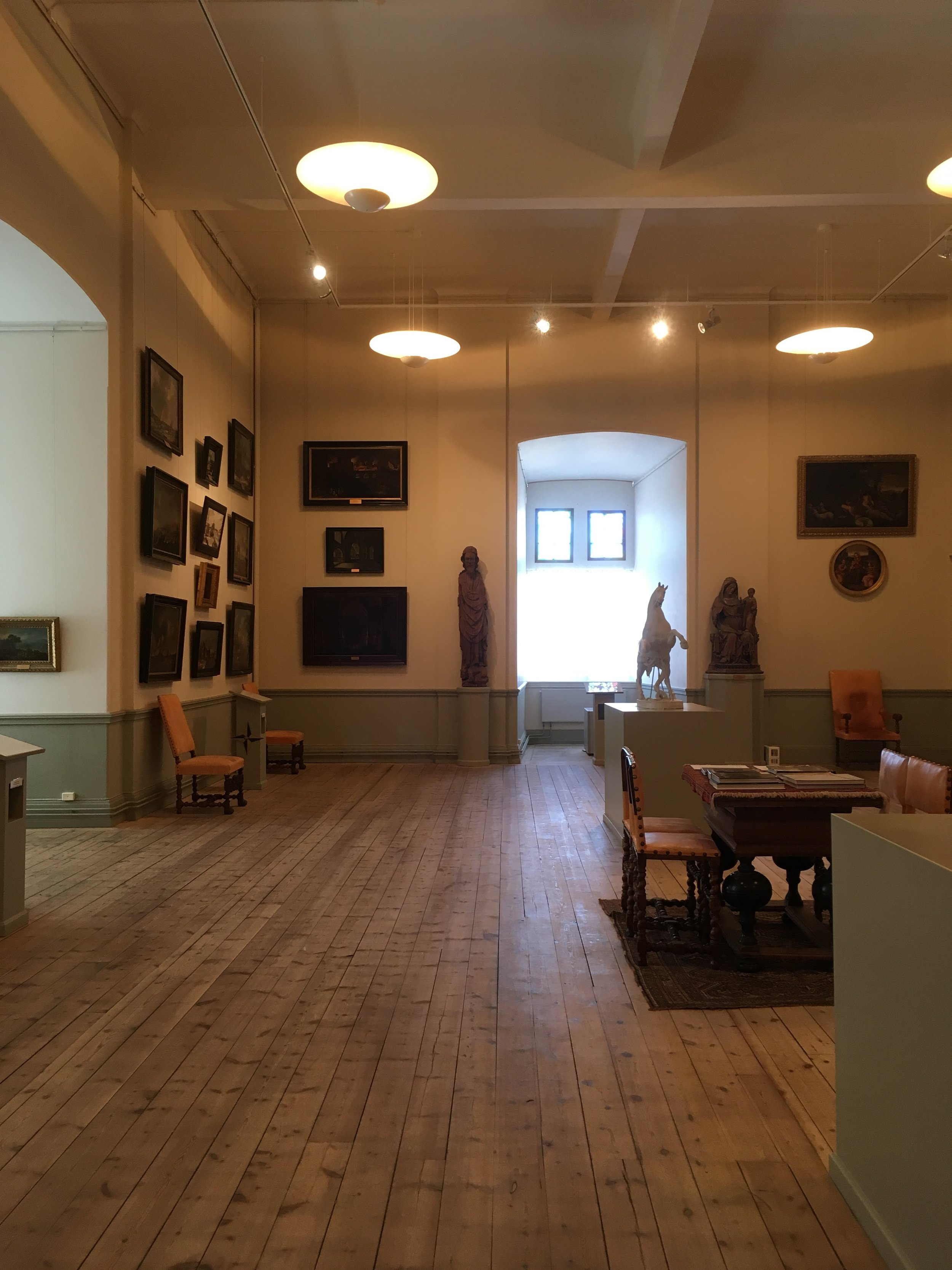 Art collection on the walls