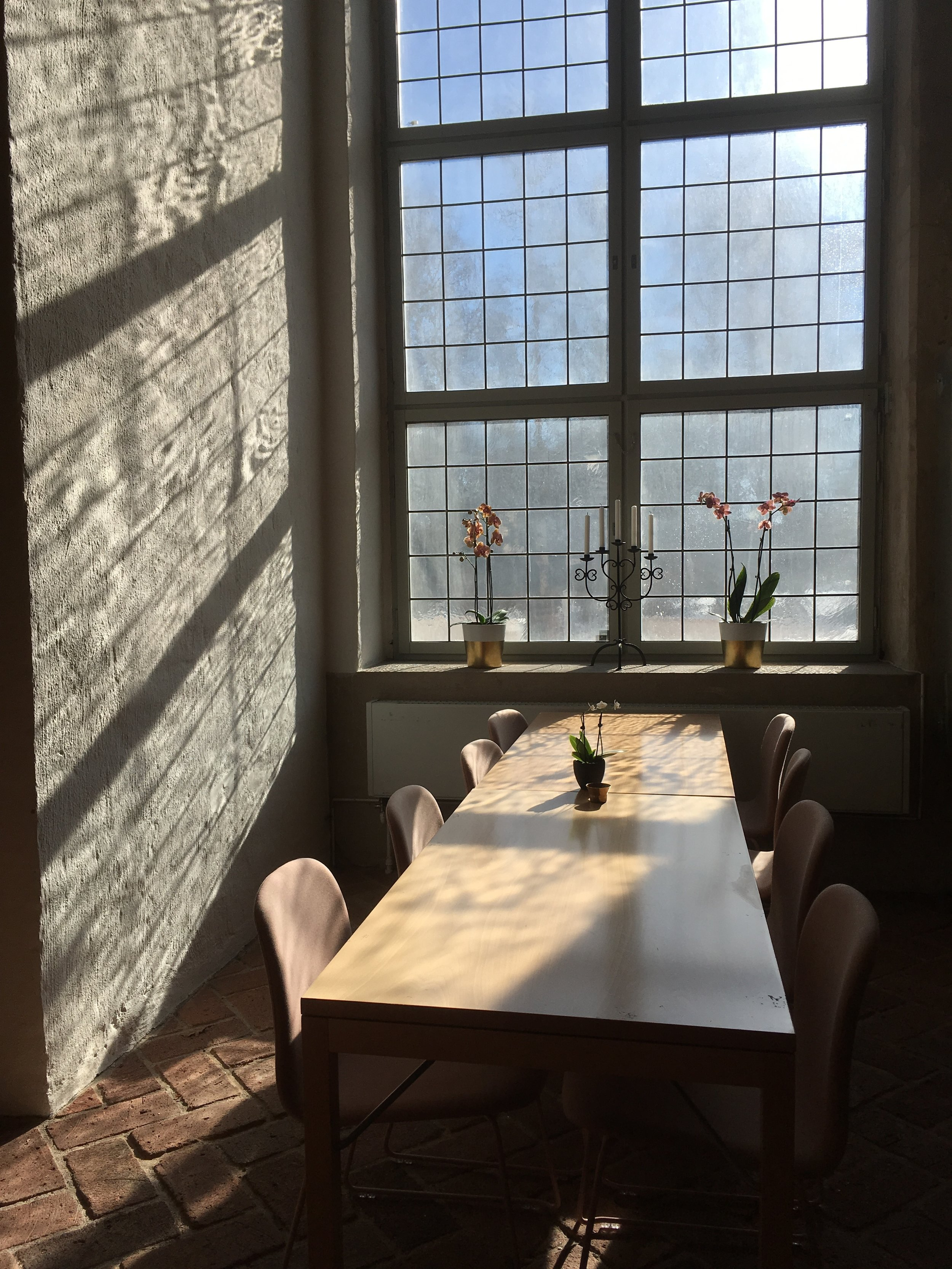 Basement cafe has both nice venue with large windows and decent offering