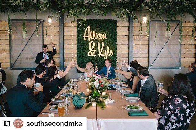 Loving our custom cutouts with lights @southsecondmke!  What can we create for your special day? We have a limited number of project slots available for 2019, so contact us today! Info@ezpzmarquee.com  #Repost @southsecondmke with @get_repost ・・・ Cheers to a brand new year! We are so grateful for all the beautiful moments 2018 brought, and we couldn't be more excited to see what's in store for 2019! | 📷: @john.khuu