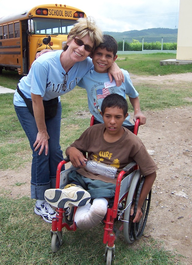 Jony is one of our boys who will live at Jovenes en Camino for the rest of his life.  You would never know that he has a disability that never stops him from serving others and God.