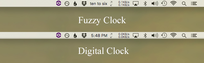 fuzzy clock