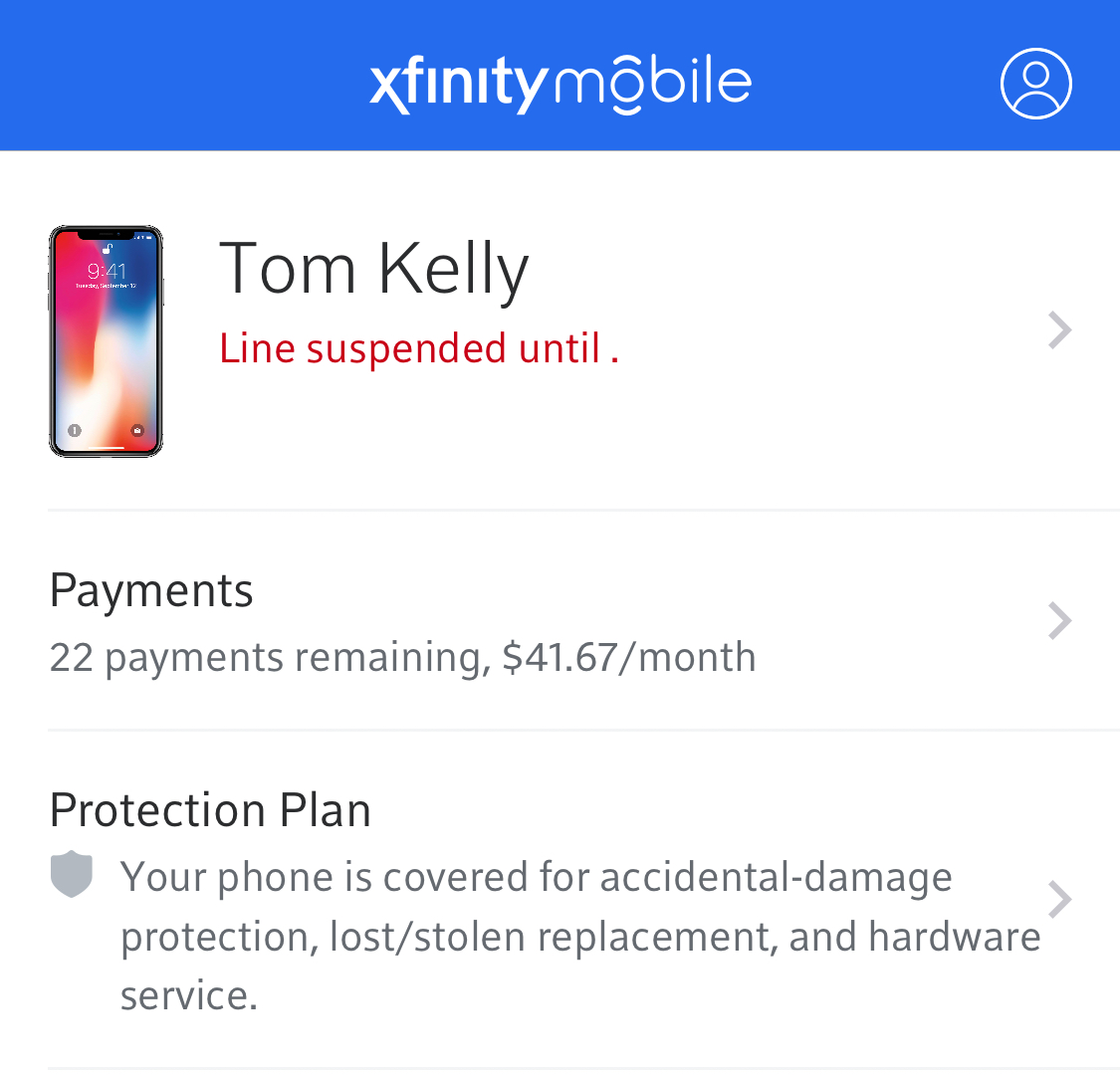 The second time this month my line has been suspended.